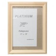 Фоторамка со стеклом Platinum, 13х18 см, сосна, цвет натуральный