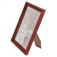 Деревянная фоторамка 15х21 см, красный.