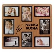 Фоторамка на 8 фото 10x15см Россия футбол 2018