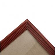 Деревянная фоторамка 30х42 см, цвет красный