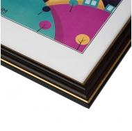 Фоторамка из пластика со стеклом Офис (287) тёмно-коричневый/бук 10x15