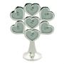Родословное дерево из металла  с листочками-сердечками на семь фотографий.