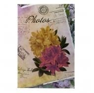 Фотоальбом на 300 фото С-46300L (бумажные стр. с МЕМО) Цветочная коллекция-6