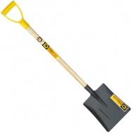 лопата совковая песочная AlexDiggermaer с деревянным черенком и ручкой