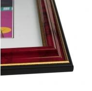 Фоторамка из пластика со стеклом Офис (283) бордовый/яшма 21x30 с ножкой