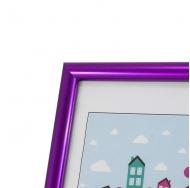 Пластиковая фоторамка фиолетовый металлик 10x15