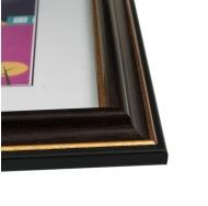 "Фоторамка из пластика со стеклом ""Офис"" (287) темно коричневый/бук 30x40"
