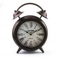 ML-5374 Часы настольные Будильник большой тёмная медь
