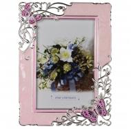 PF9870 10x15 бабочки , розовая, металлическая со стразами /6/24