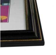 Фоторамка из пластика со стеклом Офис (289) чёрный 21x30 с ножкой