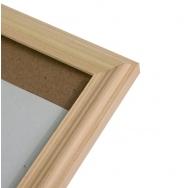 Фоторамка со стеклом Platinum, 21х30 см, сосна, цвет натуральный