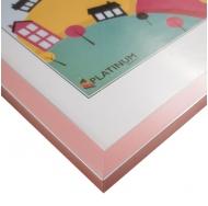 Пластиковая фоторамка розовый 21x30