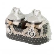 2 Баночки в корзинке в прованском стиле