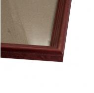 Деревянная фоторамка 40х60 см, цвет красный
