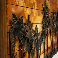 Винтажная интерьерная картина Южный закат