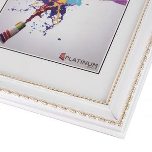 Пластиковая фоторамка PLATINUM 8131 ВЕРЧЕЛЛИ цвет БЕЛЫЙ 15х21