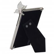 Фоторамка Platinum PF10052-4 10x15 c бабочкой, металлическая со стразами