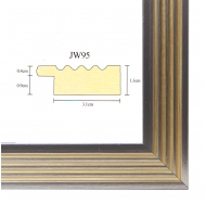 Фоторамка platinum jw95-2 парма-серебряный 30x40