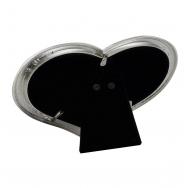 Фоторамка 10х15 сердце, металлическая со стразами