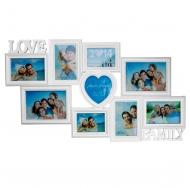 "BH-1409-White-Белый, 9 фоторамок ""Love, Family"""