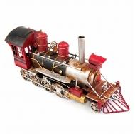 1104E-2324 Винтажная модель ретро Паровоз красный