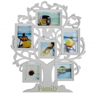 "BH-2506-White-Белый, 6 фоторамок на дереве ""Family"""