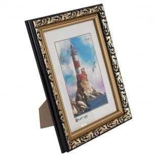 Фоторамка из пластика Садко золото с черным 15x21