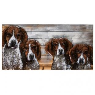 Винтажная интерьерная картина Собаки