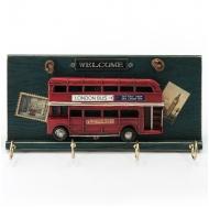 Винтажная ключница Лондонский автобус.