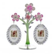 2 фоторамки на дереве с цветами и бабочкой