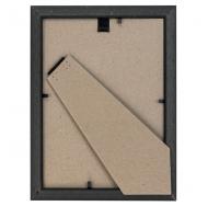 Фоторамка из пластика со стеклом Офис (287)  тёмно-коричневый/бук 15x21