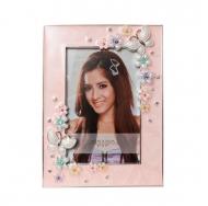 PF3522P-4 10x15 бабочки и цветы, розовая, металлическая со ст /12/36
