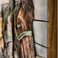 Винтажная интерьерная картина Лошади