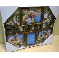 "BH-1314-Antique Gold-Античное золото, 4 фоторамки ""Family"" /12"