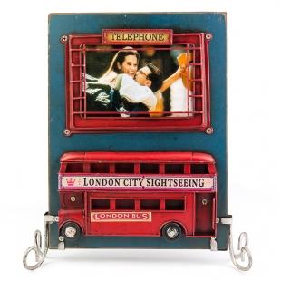 1510F-385 Винтажная фоторамка Лондонский автобус