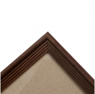 Деревянная фоторамка 60х80 см, цвет Махагон