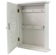 ML-3960 Ключница белая с резной дверцей