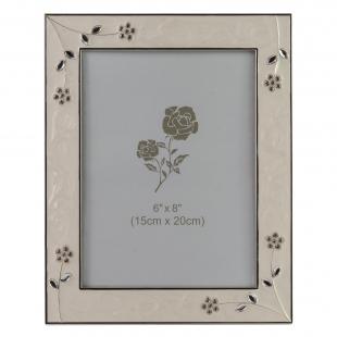PF9449N-6 15x20 цветы, белая, металлическая со стразами /12