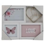 Мультирамка Love два фото 10х15 и 1 фото 10х10, Platinum BB-7041
