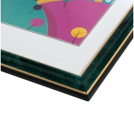 Фоторамка из пластика со стеклом Офис (285) зеленый/малахит 15x21
