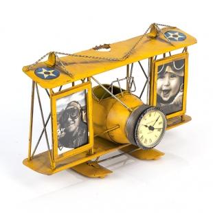 1404B-1306 2 фоторамки с подставкой для ручек Часы-Аэроплан /12