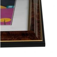 """Фоторамка из пластика со стеклом """"Офис"""" (282) коричневый/темный орех 30x40"""