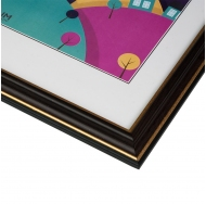 Фоторамка из пластика со стеклом Офис (287) тёмно-коричневый/бук 21x30 с ножкой