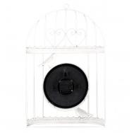 ML-1481 White Часы настенные Клетка