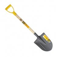лопата штыковая универсальная автомобильная с деревянным черенком и ручкой
