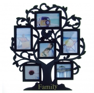 "BH-2506-Black-Чёрный, 6 фоторамок на дереве ""Family"""