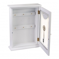 ML-4732 Ключница белая со стеклянной дверцей