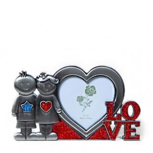 Миниатюрная металлическая фоторамка Любовь для фотографий любимых. LOVE