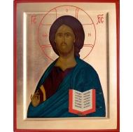 Икона Спаситель с Евангелием 14х12