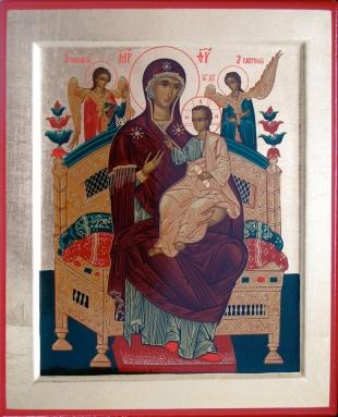 Икона Богородица Всецарица 19х16